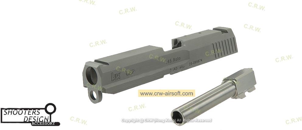 Shooters Design CNC Metal Slide & Barrel for KSC USP  45 S7 (Titanium)